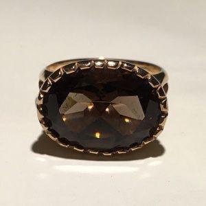 Jewelry - Oval Smokey Quartz 9k rose gold ring